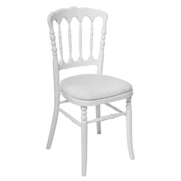 Chaise Napoleon blanche