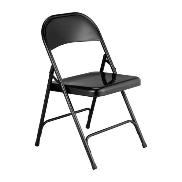 Chaise pliante metal noire