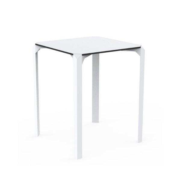 Table Quartz blanche carrée